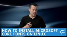 How to install Microsoft Core fonts on Linux