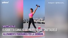 Elisabetta Canalis, la palestra sul grattacielo