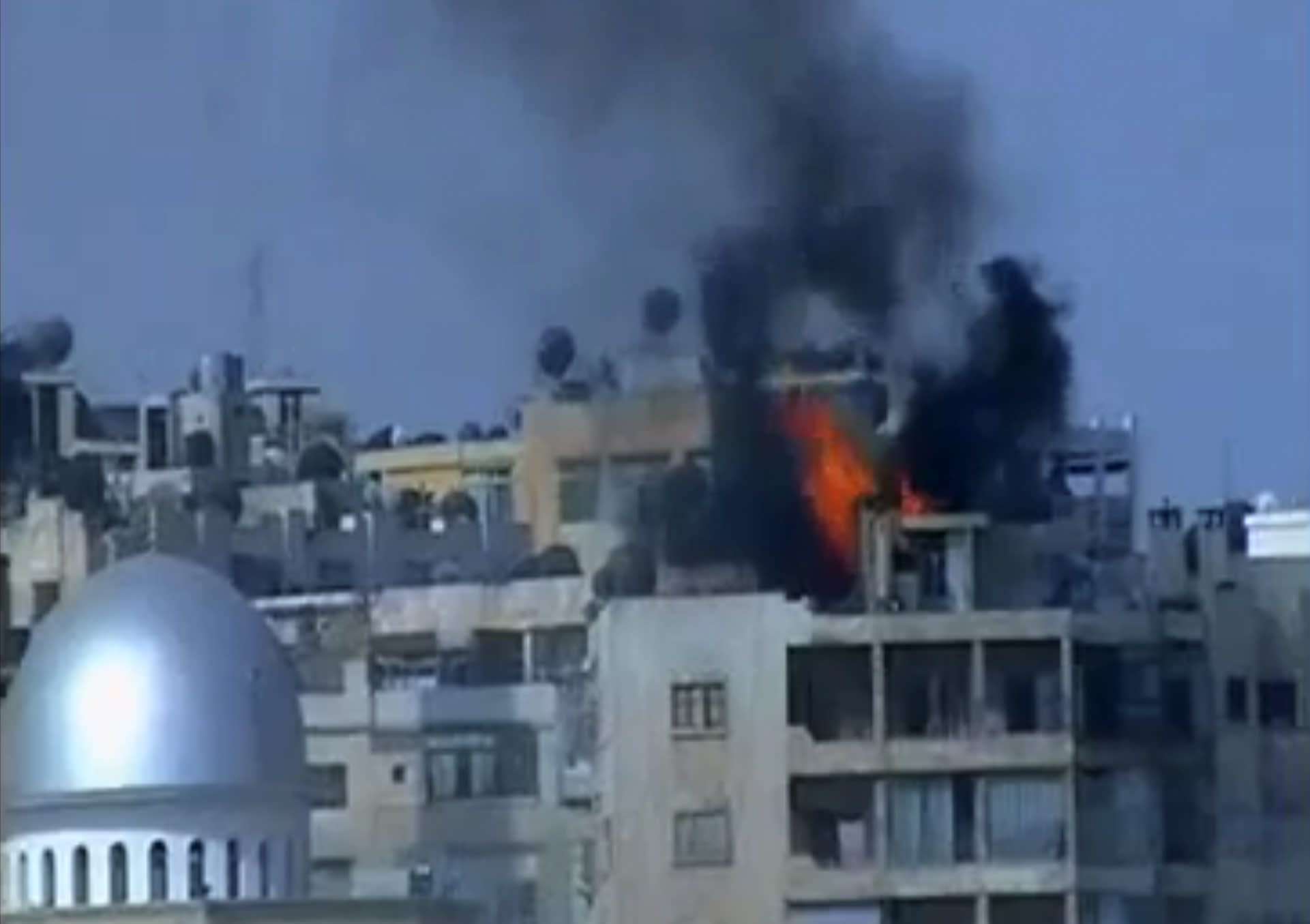 This image made from video provided by Shaam News Network (SNN) and accessed via AP video purports to show smoke and flames from shelling in the Izaa neighborhood of Aleppo, Syria, Friday, Aug. 31, 2012. Syrian rebels have begun a major operation in the Aleppo region, aiming to strike at security compounds and bases around Syria's largest city, activists said Friday. It would be evidence that weeks of intense bombardments by the Syrian military, including airstrikes, have failed to dislodge the rebels. Instead, fighting rages across the country in a 17-month civil war that shows no sign of ending soon. (AP Photo/Shaam News Network SNN via AP video) THE ASSOCIATED PRESS HAS NO WAY OF INDEPENDENTLY VERIFYING THE CONTENT, LOCATION OR DATE OF THIS PICTURE.