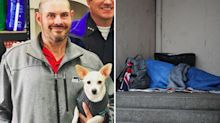 Incredible gesture from homeless man who finds $23,000