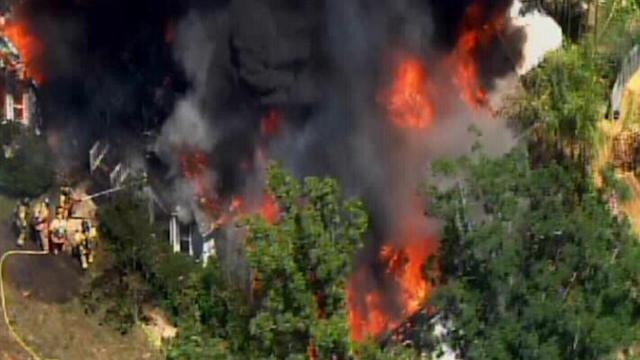Huge fire devours Wake County home