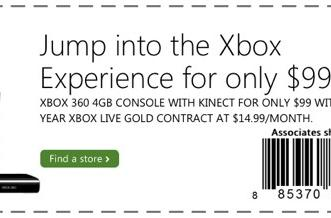 Microsoft Stores offering $99 Xbox 360 with contract now