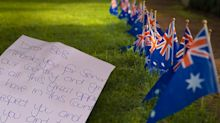 Neighbour's heart-warming note for veteran on Anzac Day