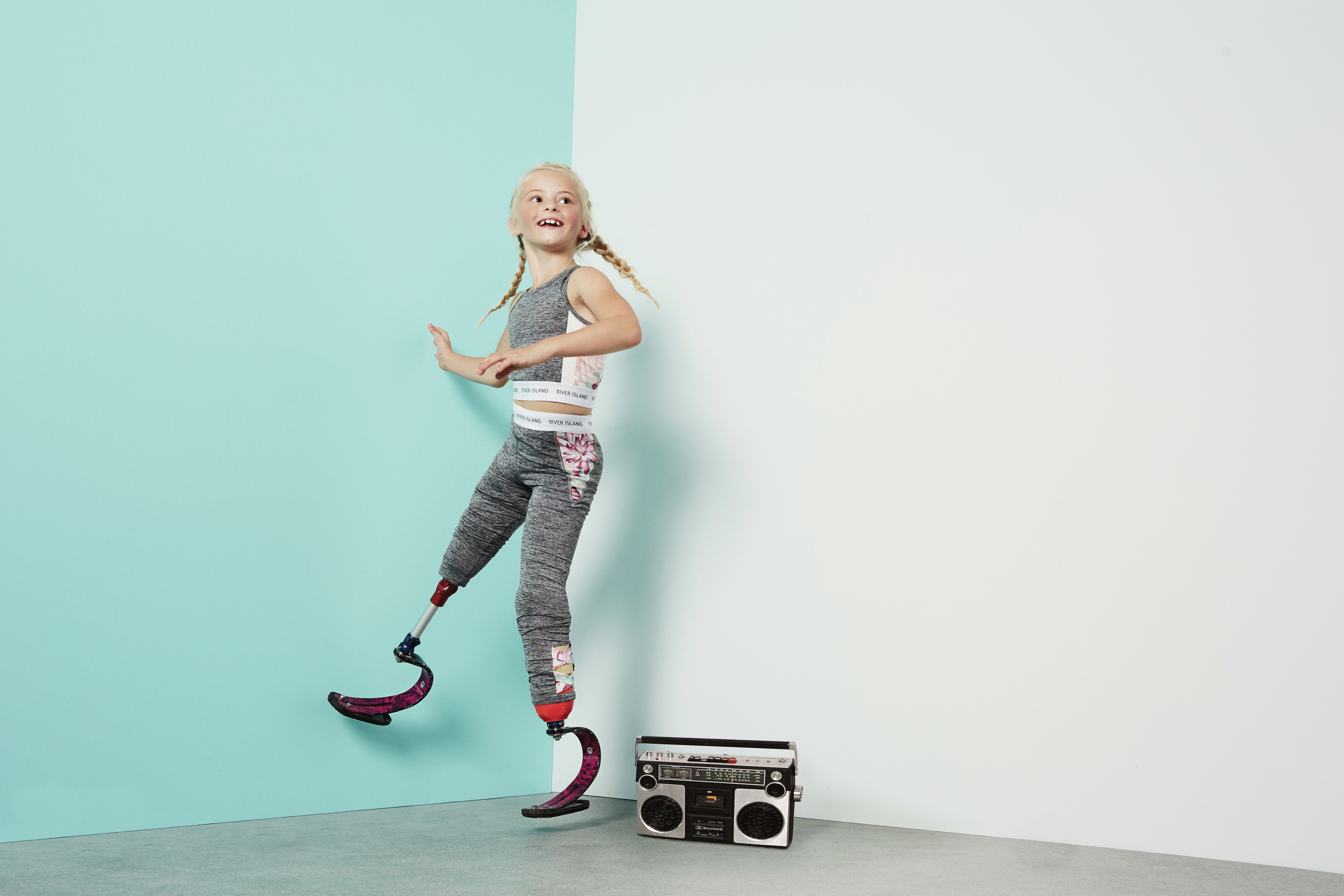 Brand taps 7-year-old double amputee model for fashion campaign