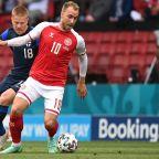 Christian Eriksen 'awake' after collapsing during Denmark's Euro 2020 match against Finland