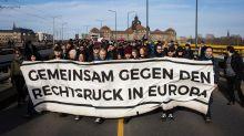 Bunter Protest in Dresden gegen Neonazis