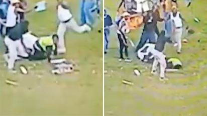 Female security guard in brutal football attack
