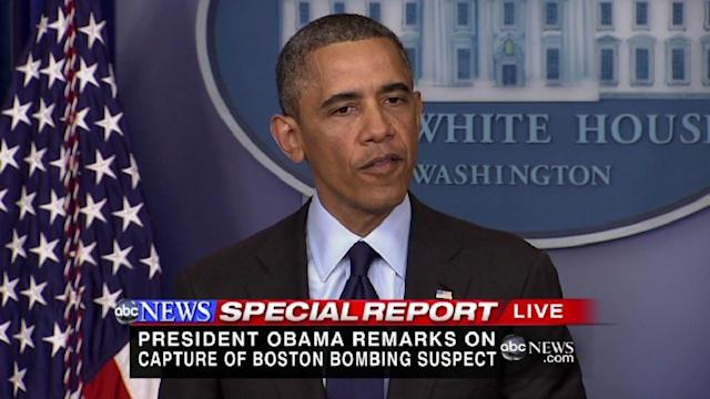 Obama comments on capture of Boston bombing suspect