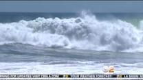 High Surf Continues Along The Orange County Coastline