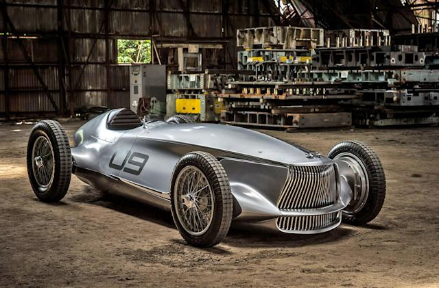 Infiniti prototype melds a 1940s race car with EV power