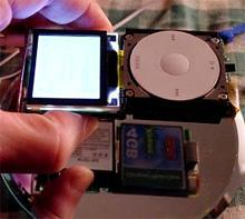 iPod mini maxed out with CF card
