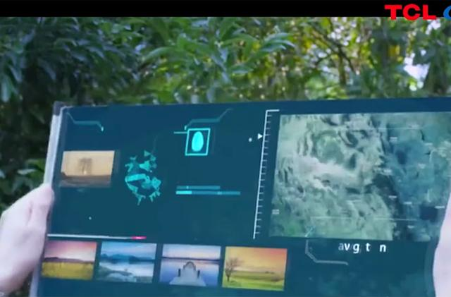 TCL teases a 17-inch tablet that unfurls like a scroll