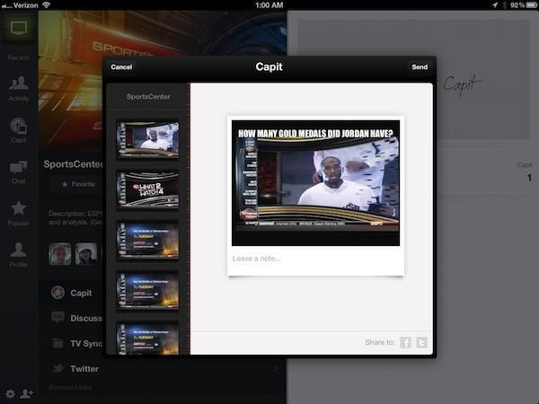 Yahoo's IntoNow TV companion app for iOS adds screen grab, music recognition and chat features