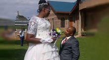 Bride hits back at haters teasing 'short' husband