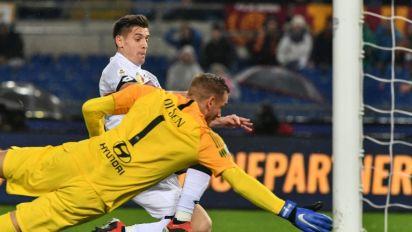 Roma battle back after Olsen blunder in five-goal Genoa thriller