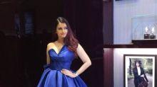 Aishwarya Rai Bachchan stuns in a royal blue gown at an event in Dubai