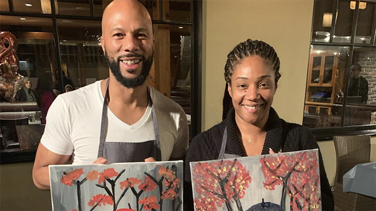 Tiffany Haddish and Common get hot and steamy with #SilhouetteChallenge