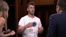 Bryce Harper Cheats During 'Catchphrase' on 'The Tonight Show'