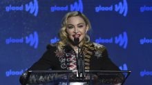 Madonna hides blade inside walking stick