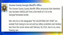 Sheriff Cancels Valentine's Day