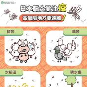 對抗日本腦炎 民眾應接受疫苗注射及防蚊措施