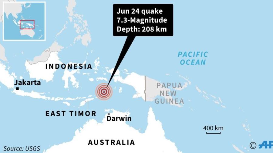 Powerful quake hits Indonesia, felt in Australia