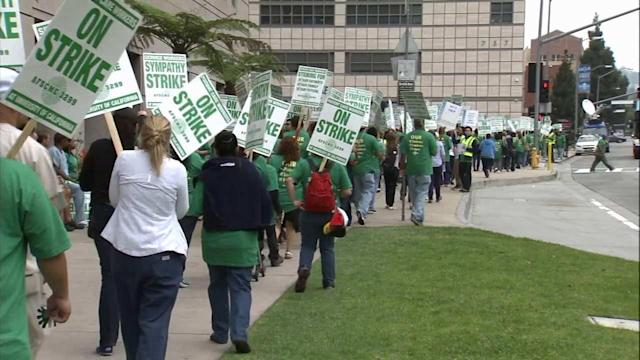 UC hospital workers strike over contract dispute