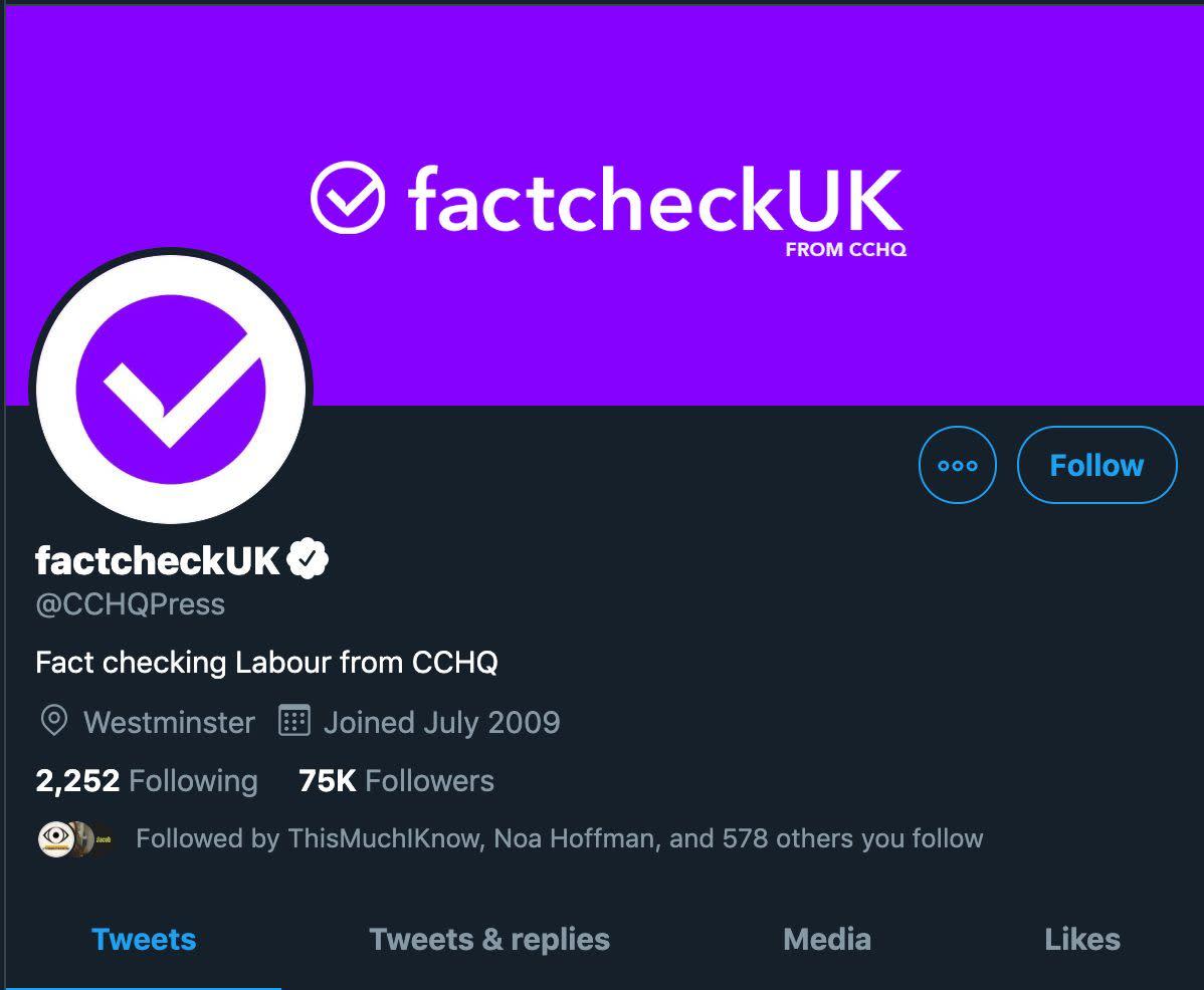 Tory HQ Slammed For 'Dystopian' Rebranding Of Twitter Account During Leaders' Debate