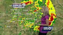 Storms could refire later this afternoon