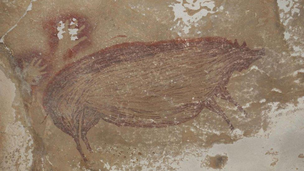 Indonesia: Archaeologists find world's oldest animal cave painting
