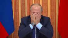 Vladimir Putin laughs uncontrollably at suggestion Russia should export pork to Muslim country