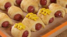 How to make American football pigs in blankets