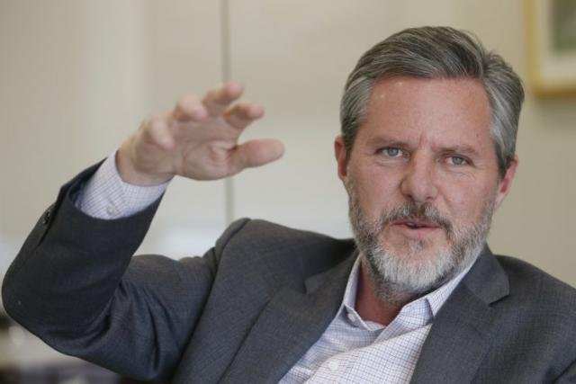 Liberty University president Jerry Falwell Jr., gestures during an interview in his offices at the school in Lynchburg, Va., Wednesday, Nov. 16, 2016. (Photo: Steve Helber/AP)