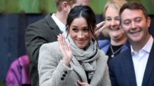 Meghan Markle rocks 'messy' bun, and $100 sweater for first public appearance of 2018