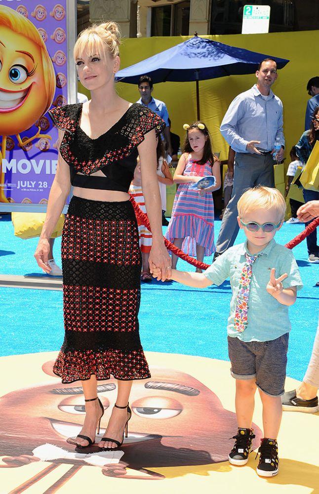 Anna Faris and Jack Pratt attend the L.A. premiere of <em>The Emoji Movie</em> on July 23.