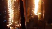 Fire engulfs South Korean apartment block