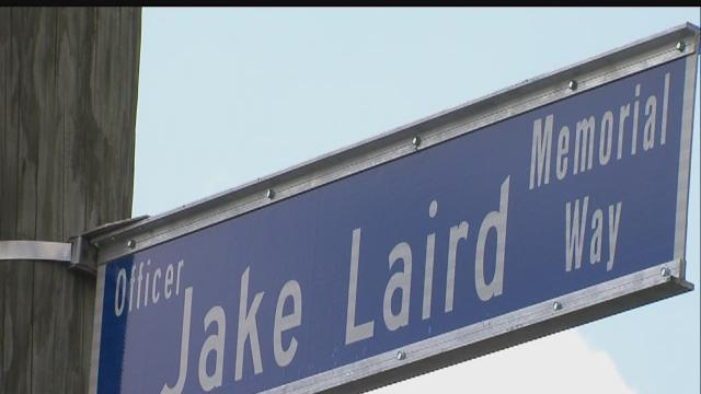 IMPD, family members remember slain Officer Jake Laird 10 years later