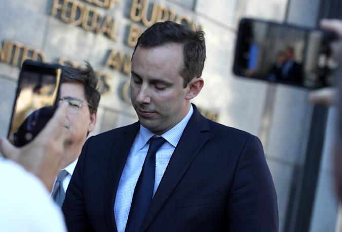 SAN FRANCISCO, CALIFORNIA - SEPTEMBER 24: Former Google and Uber engineer Anthony Levandowski gives a statement to reporters after a court appearance at the Phillip Burton Federal Building and U.S. Courthouse on September 24, 2019 in San Francisco, California. Levandowski appeared in court after he was indicted on 33 criminal counts related to the alleged theft from his former employer Google of autonomous drive technology secrets. (Photo by Justin Sullivan/Getty Images)