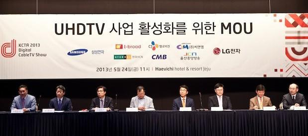 Samsung, LG join forces with Korean cable companies to push UHDTV content