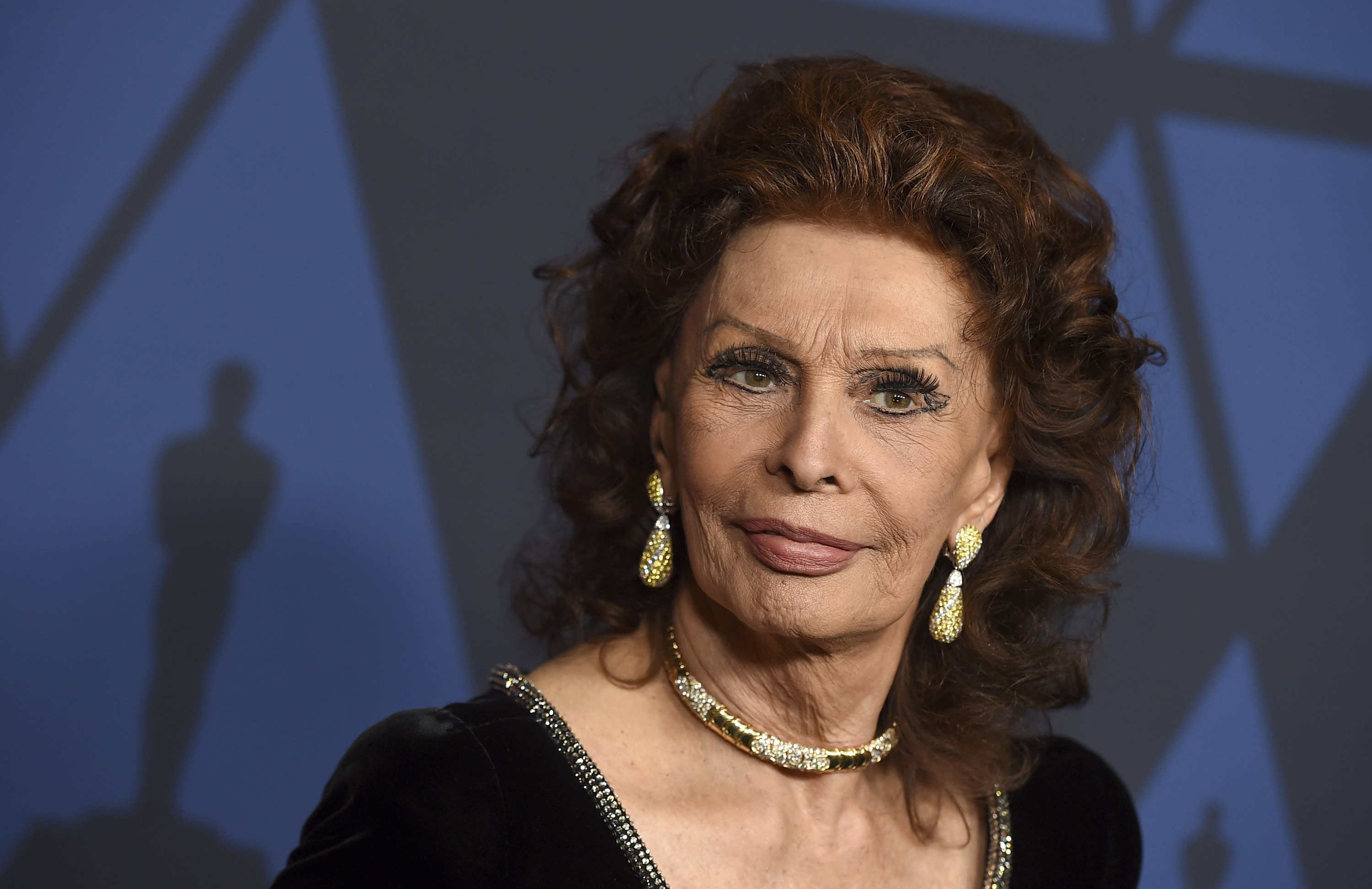 FILE - Sophia Loren arrives at the Governors Awards on Oct. 27, 2019 in Los Angeles. Loren turns 86 on Sept. 20. (Photo by Jordan Strauss/Invision/AP, File)