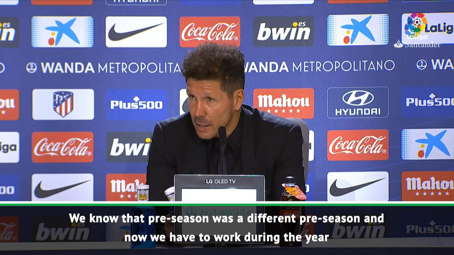 Atletico still recovering from limited pre-season - Simeone - 24