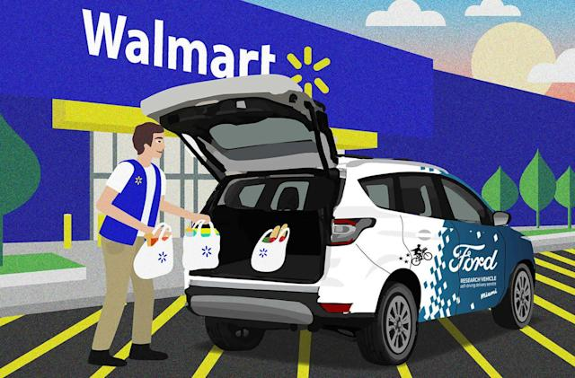 Ford and Walmart to partner on self-driving deliveries