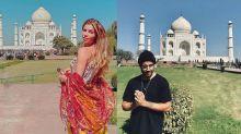 Grazi Massafera e Caio Castro visitam Taj Mahal em viagem à Índia