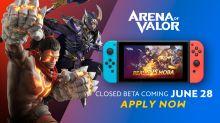 'Arena of Valor' beta registration for Nintendo Switch is live