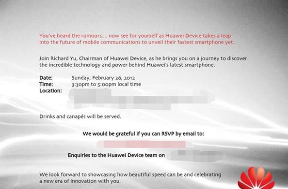 Join us for Huawei's Mobile World Congress 2012 liveblog at 9:30am EST