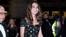 Kate Middleton Rewears BAFTAs Gown at Portrait Gala with Victoria & David Beckham
