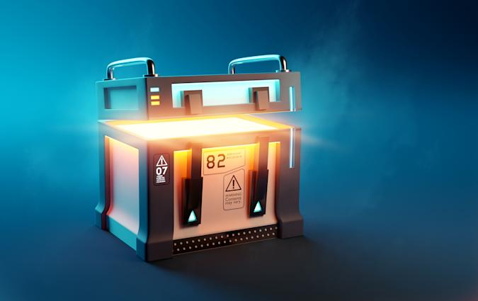 Fantasy Loot Box Futuristic Mystery Case