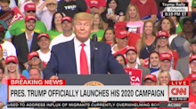 Chants of 'CNN sucks' cause network to cut away from Trump rally