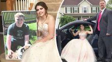 Teen's heartbreaking prom date after boyfriend dies in crash