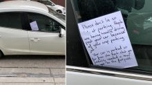 Scathing note left for driver over 'crap parking job'